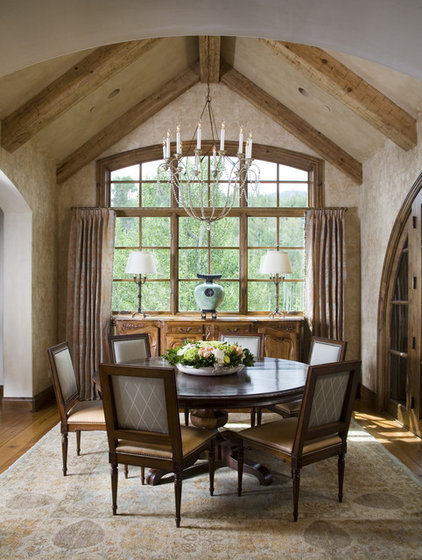 Rustic Dining Room by Slifer Designs