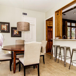 Transitional kitchen/dining room combo photo in Dallas