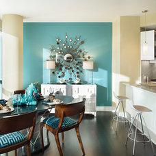 Transitional Dining Room by Gacek Design Group, Inc.