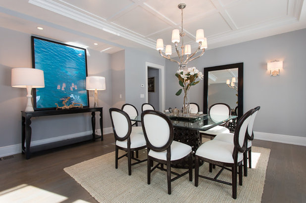 Transitional Dining Room by SIR Development
