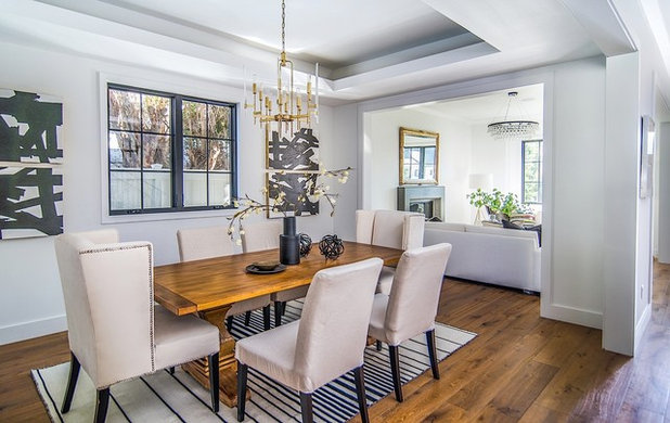 Transitional Dining Room by Boswell Construction