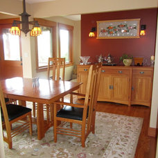 Traditional Dining Room by Rebecca West