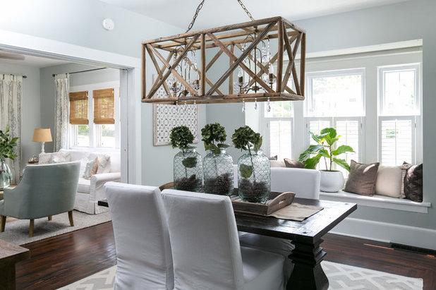 Farmhouse Dining Room by Jami Meek Designs