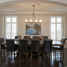 Transitional Dining Room by RS Field Design Inc.