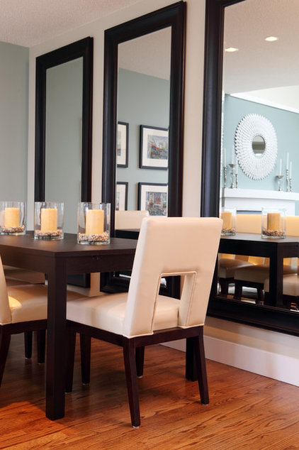 contemporary dining room by Maria Killam