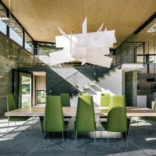 Great room - contemporary concrete floor great room idea in San Francisco