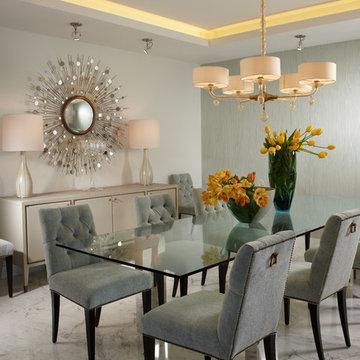 By J Design Group – Dining room - Miami Interior Designer - Designers – Modern