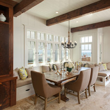 Beach Style Dining Room by Laura Kehoe Design