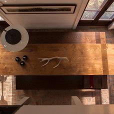 Rustic Dining Room by Jean Longpré