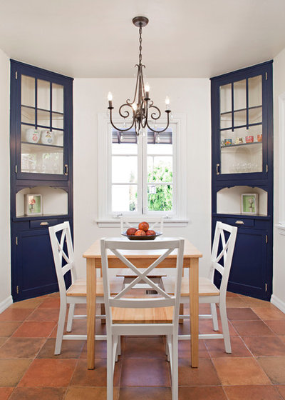 Mediterranean Dining Room by Caisson Studios