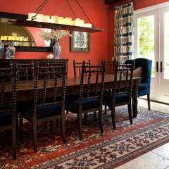 mediterranean dining room by Blackband Design