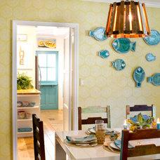 Beach Style Dining Room by Charmean Neithart Interiors, LLC.