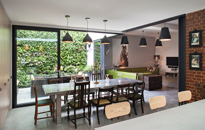 Houzz Tour: Industrial Rococo Style in a London Courtyard Flat
