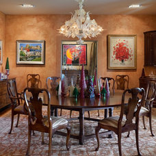 Mediterranean Dining Room by E. B. Mahoney Builders, Inc.