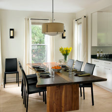 Contemporary Dining Room by Morse Constructions Inc.