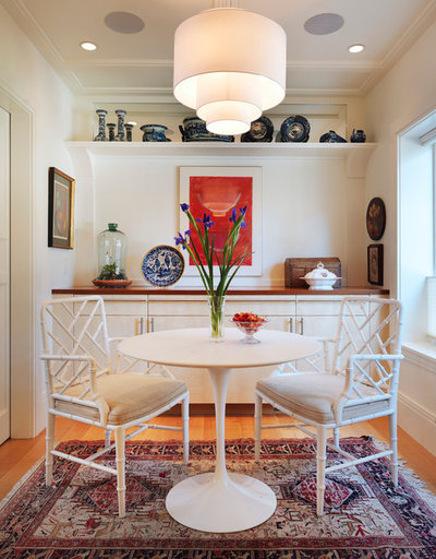 Transitional Dining Room by Audio Concepts