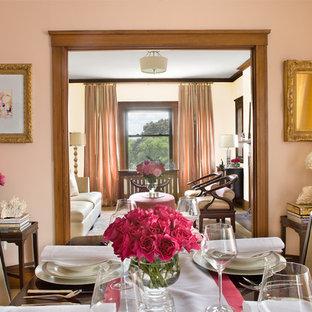 Idéer för en klassisk separat matplats, med rosa väggar