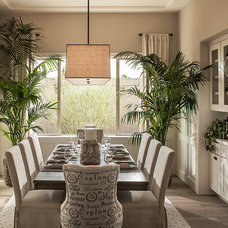 Transitional Dining Room by Camelot Homes