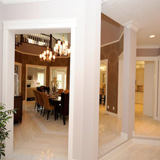 Traditional Dining Room by Marie Hebson's interiorsBYDESIGN Inc.
