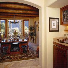 Mediterranean Dining Room by Candelaria Design Associates