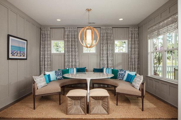Beach Style Dining Room by JLV Creative