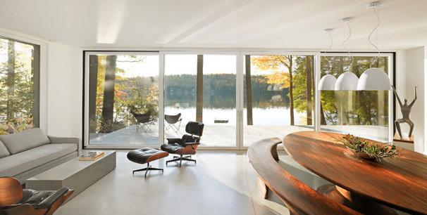 Contemporary Dining Room by Birdseye Design