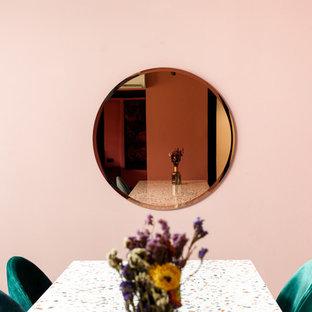 Idée de décoration pour une salle à manger bohème.