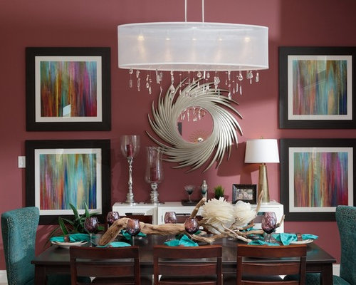framed art prints dining room design ideas renovations photos with