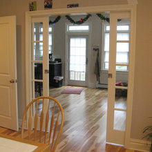 Pocket French Doors Between Kitchen and Family