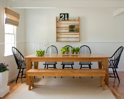 Primitive Dining Room With Windsor Chairs