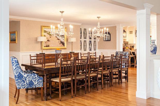 Beach Style Dining Room by Violandi + Warner Interiors