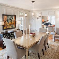 Transitional Dining Room by Irvin Serrano