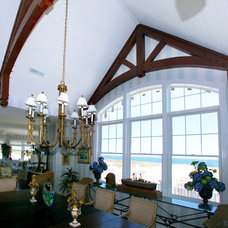 Traditional Dining Room by Hugh Lofting Timber Framing, Inc.