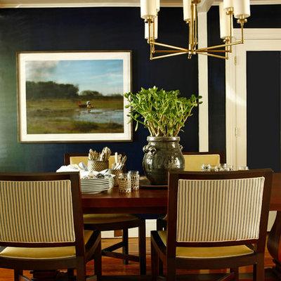 Huge elegant dark wood floor great room photo in Philadelphia with no fireplace