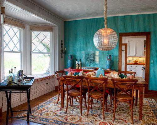 erker kolonialstil esszimmer ideen bilder design houzz. Black Bedroom Furniture Sets. Home Design Ideas