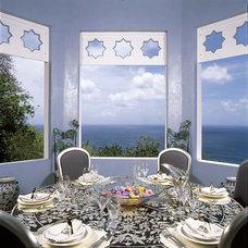 Tropical Dining Room by Bruce Palmer Coastal Design