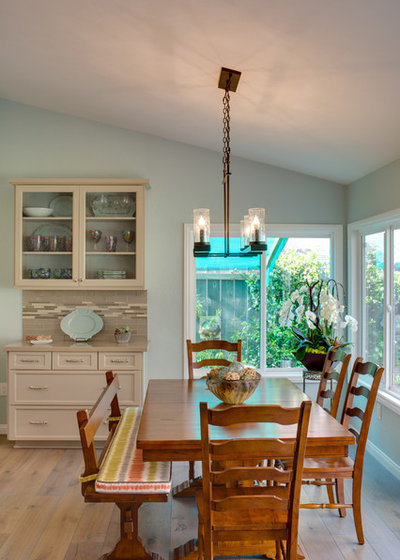 Beach Style Dining Room by Karen Cole Designs