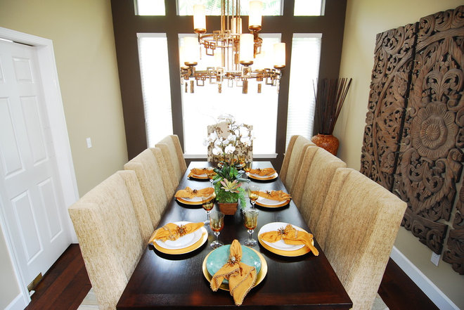 Asian Dining Room by Grace Blu Designs, Inc.