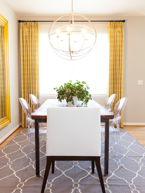 Inspiration For An Eclectic Dining Room Remodel In San Diego With Beige Walls And Medium Tone