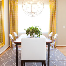 Eclectic Dining Room by Lilium Designs
