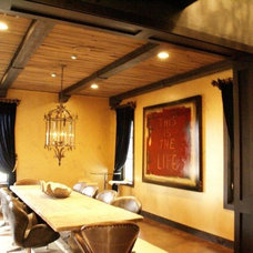 Traditional Dining Room by Green Valley Beam & Truss Co.