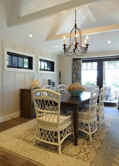 Beach Style Dining Room by Regan Baker Design Inc.