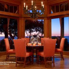 Mediterranean Dining Room by Schippmann Design