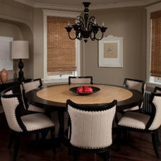 Transitional Dining Room by Paul Schulman Design