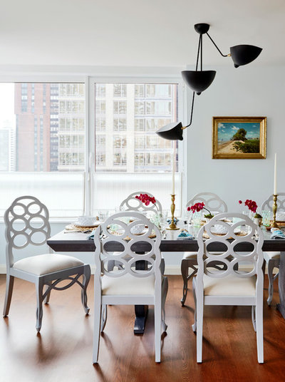 Eclectic Dining Room by Christopher Maya Associates Inc.