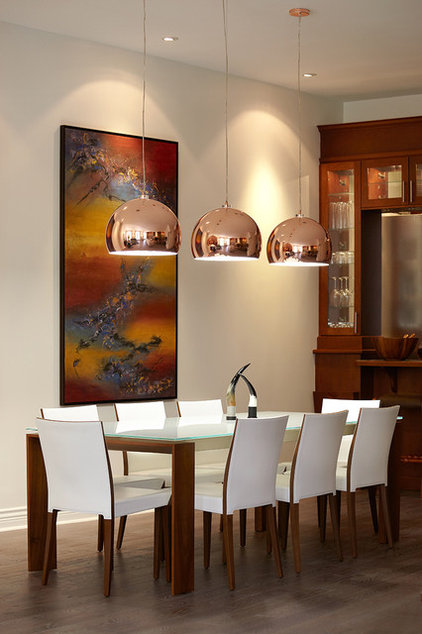 Contemporary Dining Room by Lauzon Architectural photographer