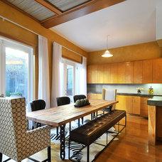 Contemporary Dining Room by Carolyn Baylon Design
