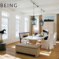 Eclectic Dining Room by lisa k. tharp - k. tharp design