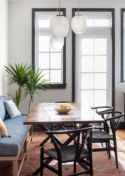 Transitional Dining Room by Ben Herzog