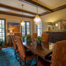 Rustic Dining Room by Key Residential
